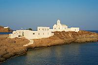 Grece, Cyclades, ile de Sifnos, monastere de la Panagia Chryssopigi // Greece, Cyclades islands, Sifnos, Panagia Chryssopigi monastery