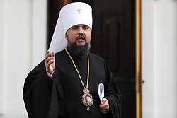 May 24, 2019 - Kiev, Ukraine - During the briefing, the Metropolitan of the Orthodox Church Epiphanius said that the honorable Patriarch Filaret on December 15, 2018 did not sign the administration of the charter, which was adopted during the Unity Council. He stated this after the meeting of the Synod. Kiev, Ukraine, Friday, May 24, 2019  (Credit Image: © Danil Shamkin/NurPhoto via ZUMA Press)