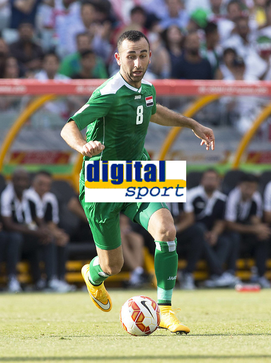 Fotball<br /> Asia Cup / Asiamesterskapet<br /> 23.01.2015<br /> Iran v Irak<br /> Kvartfinale<br /> Foto: imago/Digitalsport<br /> NORWAY ONLY<br /> <br /> Justin Meram (8) of Iraq in the FIFA Asian Football Confederation 2015 Asian Cup quarter-final game played in Canberra Stadium, Canberra, Australia