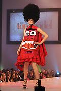 Finale Benelux Next Top Model vanuit de lichtfabriek in Haarlem.<br /> <br />  Op de foto:  Maxime in een jurk van Bas Kosters