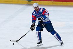 Ziga Pavlin of Slovenia at ice-hockey match between Slovenia and Kazahstan, on April 12, 2011 at Hala Tivoli, Ljubljana, Slovenia. (Photo By Matic Klansek Velej / Sportida.com)