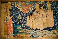 """France, Maine-et-Loire (49), Angers, le château, tapisserie de l' Apocalypse, """"La Jerusalem nouvelle"""" // France, Maine-et-Loire, Angers, Apocalypse of Angers Tapestries on Display at Chateau d'Angers, """"The New Jerusalem"""""""