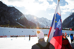 Spectator during the Man's team sprint race at FIS Cross Country World Cup Planica 2016, on January 17, 2016 at Planica, Slovenia. Photo by Ziga Zupan / Sportida