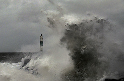 @ Licensed to London News Pictures Ltd. 15/02/2020. Aberystwyth, UK. Storm Dennis hits the east coast at Aberystwyth harbour in Wales, as large parts of the UK are battered by strong winds and heavy rain. Photo credit: Andrew Chittock/LNP © Licensed to London News Pictures Ltd. 15/02/2020. Aberystwyth, UK. Storm Dennis hits the east coast at Aberystwyth harbour in Wales, as large parts of the UK are battered by strong winds and heavy rain. Photo credit: Andrew Chittock/LNP