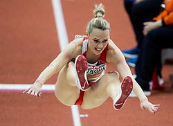 04-02-2017  SRB: European Athletics Championships indoor day 2, Belgrade<br /> Veranika Shutkova of Belarus - verspringen