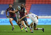 Rugby Union - 2020 / 2021 Gallagher Premiership - Bristol Bears vs Bath - Ashton Gate<br /> <br /> Bristol Bears' Semi Radradra is tackled by Bath Rugby's Rhys Priestland.<br /> <br /> COLORSPORT