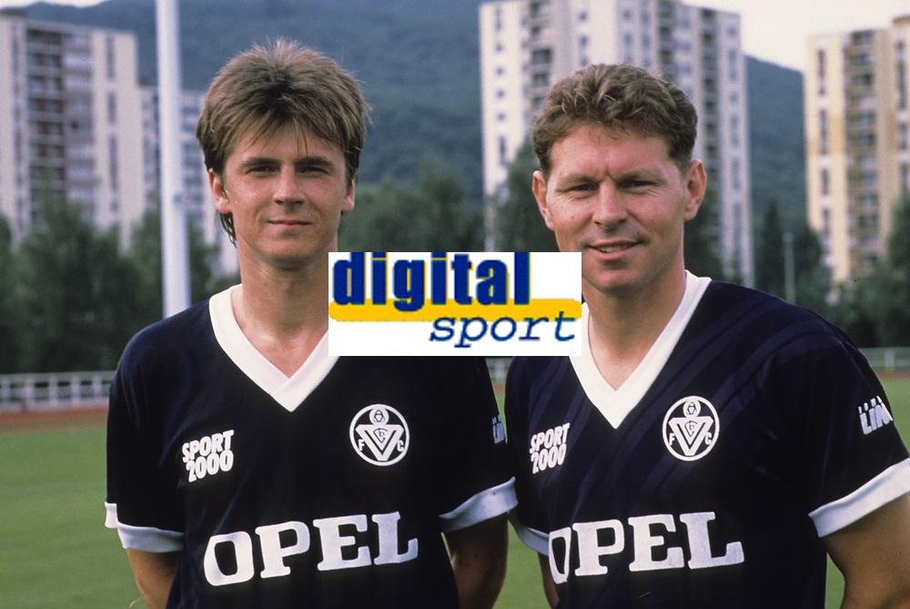Fotball<br /> Frankrike<br /> Foto: Dppi/Digitalsport<br /> NORWAY ONLY<br /> <br /> FOOTBALL - FRENCH CHAMPIONSHIP 1988/1989 - GIRONDINS DE BORDEAUX - YANNICK STOPYRA / CLIVE ALLEN