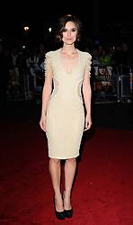 Keira Knightley arriving for the European premiere of Never Let Me Go at the Odeon Leicester Square, London.