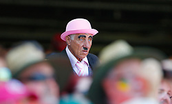 A fan dressed as Charlie Chaplin looks on during day two of the Ashes Test match at Sydney Cricket Ground.