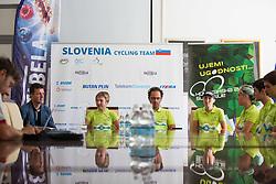 Team at press conference of team Slovenia before WC Masters Hajfell in Norway on August 25, 2014 in Hala Tivoli, Ljubljana, Slovenia. Photo by Matic Klansek Velej / Sportida