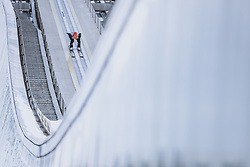 01.01.2021, Olympiaschanze, Garmisch Partenkirchen, GER, FIS Weltcup Skisprung, Vierschanzentournee, Garmisch Partenkirchen, Einzelbewerb, Herren, im Bild David Siegel (GER) // David Siegel of Germany during the men's individual competition for the Four Hills Tournament of FIS Ski Jumping World Cup at the Olympiaschanze in Garmisch Partenkirchen, Germany on 2021/01/01. EXPA Pictures © 2020, PhotoCredit: EXPA/ JFK