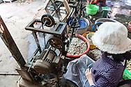 Silk production factory in Da Lat, Vietnam, Southeast Asia