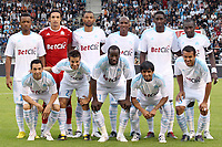 FOOTBALL - FRIENDLY GAMES 2010/2011 - OLYMPIQUE MARSEILLE v TOULOUSE FC - 21/07/2010 - PHOTO ERIC BRETAGNON / DPPI - TEAM OM (BACK ROW LEFT TO RIGHT : JORDAN AYEW / ELINTON ANDRADE / EDOUARD CISSE / CHARLES KABORE / MAMADOU SAMASSA / MAMADOU NIANG . FRONT ROW : JEAN PHILIPPE SABO / CESAR AZPILICUETA / SOULEYMANE DIAWARA / LUCHO GONZALEZ / HILTON )