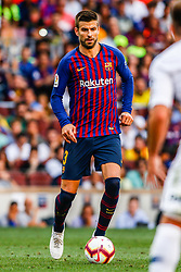 August 15, 2018 - Gerard Pique from Spain during the Joan Gamper trophy game between FC Barcelona and CA Boca Juniors in Camp Nou Stadium at Barcelona, on 15 of August of 2018, Spain. (Credit Image: © AFP7 via ZUMA Wire)