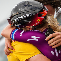 WIJSTER (NED) June 19: <br /> CYCLING <br /> Dutch Nationals Road WOMEN up and around the Col du VAM<br /> Amy Pieters emotional