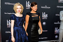 LOS ANGELES, CA - JUNE 10: Julia Garner and Marcia Gay Harden attends the opening night premiere of 'Grandma' during the 2015 Los Angeles Film Festival at Regal Cinemas L.A. Live on June 10, 2015. Byline, credit, TV usage, web usage or linkback must read SILVEXPHOTO.COM. Failure to byline correctly will incur double the agreed fee. Tel: +1 714 504 6870.