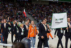 Opening Ceremony, Team NED <br /> Alltech FEI World Equestrian Games™ 2014 - Normandy, France.<br /> © Hippo Foto Team - Leanjo de Koster<br /> 25/06/14