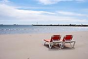 The coast of Spain at Pineda de mar, Catalonia.