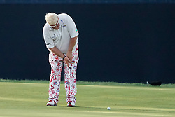 August 9, 2018 - St. Louis, Missouri, United States - John Daly putts to the 9th green during the first round of the 100th PGA Championship at Bellerive Country Club. (Credit Image: © Debby Wong via ZUMA Wire)