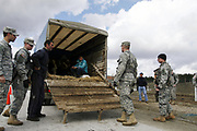 The US Military personnel serving under the Kosovo Force, which is a NATO-led international peacekeeping force in Kosovo, is seen on a security roadblock patrolling in Llabjan intersection highway towards Pristina the capital on March 8, 2008. (Photo/Vudi Xhymshiti)