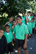 Fijian schoolchildren, Viti Levu, Fiji