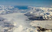 Svalbard inflight in June 2008.