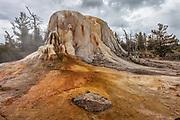 Orange Spring Mound in Yellowstone National Park