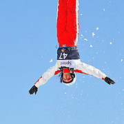Denita Mudge (AUS) performs aerial acrobatics during the 2009 Sprint US Freestyle Championships held at the Utah Olympic Park in Park City on March 8, 2009. Mudge scored 129.56 points on the day which was good enough for 5th place overall.