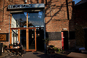 Stour Space cafe in Hackney Wick, East London, UK.