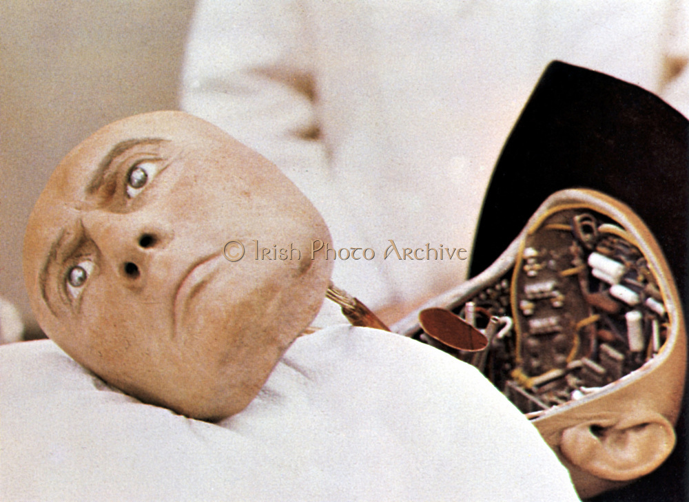 Robot head from the film 'Westworld', MGM, 1973.