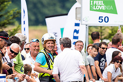 Vid Ponikvar, photographer and Dare Rupar, speaker during 5th Time Trial Stage of 25th Tour de Slovenie 2018 cycling race between Trebnje and Novo mesto (25,5 km), on June 17, 2018 in  Slovenia. Photo by Matic Klansek Velej / Sportida