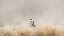 AREQUIPA, Jan. 11, 2019  Gracida Garza of Mexico competes during the 4th stage of the 2019 Dakar Rally Race, near La Joya, Arequipa province, Peru, on Jan. 10, 2019. Carlos Gracida Garza finished the 4th stage with 5 hours 47 minutes and 42 seconds. (Credit Image: © Xinhua via ZUMA Wire)