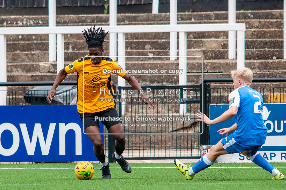 BROMLEY, UK - JULY 13: Andre Coker during the Pre-season friendly match between Cray Wanderers FC and Tonbridge Angels FC at Hayes Lane on July 13, 2019 in Bromley, UK. <br /> (Photo: Jon Hilliger)