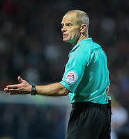 Referee Andy Woolmer in action <br /> <br /> Photographer Alex Dodd/CameraSport<br /> <br /> The EFL Sky Bet Championship - Blackburn Rovers v Newcastle United - Monday 2nd January 2017 - Ewood Park - Blackburn<br /> <br /> World Copyright © 2017 CameraSport. All rights reserved. 43 Linden Ave. Countesthorpe. Leicester. England. LE8 5PG - Tel: +44 (0) 116 277 4147 - admin@camerasport.com - www.camerasport.com