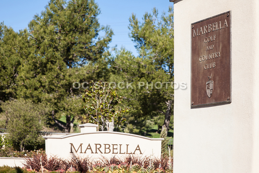 Marbella Golf And Country Club Entrance Of San Juan Capistrano California