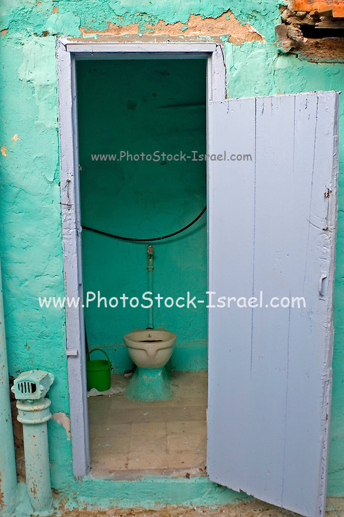 The toilet in a deserted building