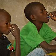 Listening and thinking in Koumbadiouma's primary school. Kolda, Senegal.