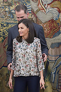 022520 Spanish Royals attends audiences at Zarzuela Palace
