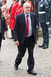© Licensed to London News Pictures. 10/07/2018. London, UK. British Labour party leader Jeremy Corbyn attends a service at Westminster Abbey to make the100th anniversary of the Royal Air Force at Westminster Abbey. The RAF, the world's first independent air force was founded on 1 April 1918, independent of the British Army and Royal Navy. Photo credit: Ray Tang/LNP