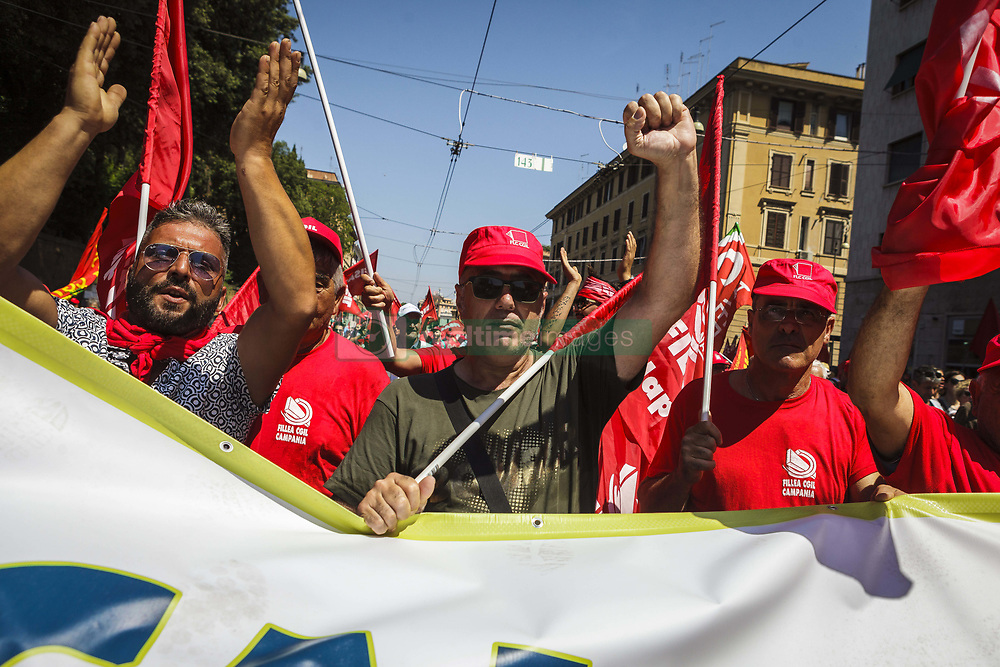 June 17, 2017 - Rome, Italy - CGIL, Italian trade union, calls for a demonstration to protest against the reintroduction of a new type of work 'voucher' system, coupons to pay jobs for less, that were abolished last March with an amendment of the Government in Rome, Italy on June 17, 2017. (Credit Image: © Giuseppe Ciccia/Pacific Press via ZUMA Wire)