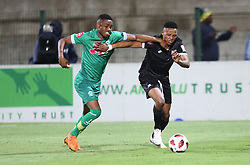 02102018 (Durban) Amazulu captain Mbongeni Gumede fight for a ball during the game when AmaZulu FC takes head on their KwaZulu-Natal rivals Maritzburg United in an Absa Premiership match at the King Zwelithini Stadium in Durban on Tuesday night. Usuthu extended their winless run to three league games when they lost 2-0 to Kaizer Chiefs away in their previous match over a week ago and after losing 6 points.<br /> Picture: Motshwari Mofokeng/African News Agency (ANA)