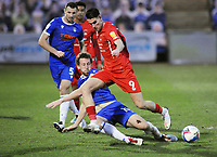 Football - 2020 / 2021 Sky Bet League Two - Colchester United vs Leyton Orient - JobServe Community Stadium<br /> <br /> Tom Eastman of Colchester challenges Conor Wilkinson of Orient <br /> <br /> COLORSPORT/ANDREW COWIE
