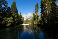 Reflections on the Merced River in Yosemite Valley. Image taken with a Nikon D3 camera and 14-24 mm f/2.8 lens (ISO 200, 14 mm, f/16, 1/80 sec)