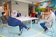 ROTTERDAM, 07-04-2021, Valentijnschool<br /> <br /> Koningin Maxima bezoekt pilotprojecten rond sneltesten in onderwijs en bedrijfsleven op de Valentijnschool in Rotterdam-Delfshaven en petrochemiebedrijf Huntsman Holland BV in Rotterdam-Botlek. De bezoeken staan in het teken van pilotprojecten rond de invoering van zelf- en sneltesten in het onderwijs en het bedrijfsleven ter bestrijding van het coronavirus. FOTO: Brunopress/ROTA/Mischa Schoemaker<br /> <br /> Queen Maxima visits pilot projects on rapid tests in education and business at the Valentine's School in Rotterdam-Delfshaven and the petrochemical company Huntsman Holland BV in Rotterdam-Botlek. The visits are devoted to pilot projects on the introduction of self-testing and rapid tests in education and industry to combat the corona virus.