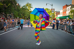 June 10, 2017 - Washington, District of Columbia, U.S. - Thousands of people took the streets in Washington DC to celebrate the annual Pride Parade. The event marked its 41st anniversary at the Nation's Capital. The Pride Parade travels 1.5 miles through Dupont Circle and 17th Street, passes by the Logan Circle neighborhood and ends along the revitalized 14th Street corridor at S Street. (Credit Image: © Dimitrios Manis via ZUMA Wire)