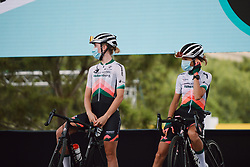 Demi Vollering (NED) and Hanna Nilsson (SWE)] at the 2020 La Course By Le Tour with FDJ, a 96 km road race in Nice, France on August 29, 2020. Photo by Sean Robinson/velofocus.com