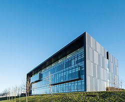 Modern laboratory building at the bioQuarter in Edinburgh, Scotland, United Kingdom