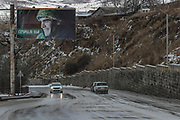 "A billboard showing a military man nearby residential area where the Rubble left by the Spitak Earthquake which struck 33 years ago are still visible says ""we will win"" - on Sunday, Jan 16, 2021. 44 days of heavy fighting between Azerbaijani and ethnic Armenian forces had been ongoing until both sides agreed to a Russian-brokered peace deal on Monday, Nov 9, 2020. The enclave is internationally recognised as Azerbaijani but has been run by ethnic Armenians since 1994. The peace deal sparked jubilant scenes in Azerbaijan and fury in Armenia. Under its terms, Azerbaijan will hold on to several areas that it has taken during the conflict. Armenia also agreed to withdraw from several other adjacent areas. (Photo/ Vudi Xhymshiti)"