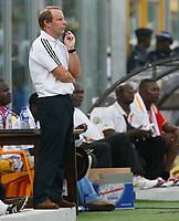 Photo: Steve Bond/Richard Lane Photography.<br />Ghana v Nigeria. Africa Cup of Nations. 03/02/2008. Bertie Vogts ponders