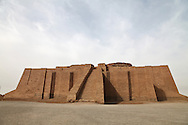 Ur at the Biblical birthplace of Abraham near the Ziggurat, next to the Tallil Airbase in Iraq.<br /> Ur was the principal center of worship of the Sumerian moon god Nanna. The Ziggurat in Ur is the largest in Iraq . Next to it are the ruins of  what is thought to be Abraham's home. The archeological site will be returned to the Iraqis May 13 2009 along with the rest of Dhi Qar province